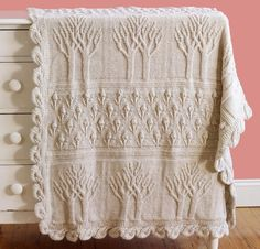 Knit an elegant addition to your decor with the Tree of Life Afghan Kit! You'll receive a pattern and ten plush skeins of Lion Brand Wool-Ease to complete this beautiful blanket. Featuring timeless tree motifs and lovely scalloped edges, this afghan is sure to become a treasured family heirloom.