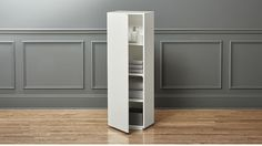 the wall bath cabinet | CB2  I have in my bathroom - 3 side by side. good option if you need hallway storage (across from kitchen)