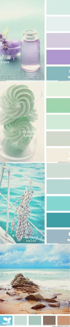 Color Palettes - calm & serene for small spaces