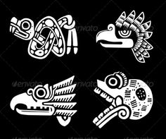 Indian Design ...  abstract, american, ancient, animal, art, authentic, aztec, black, culture, decoration, design, eagle, ethnic, indian, maya, mexican, mexico, national, ornament, ornate, religion, set, skull, snake, symbol, tattoo, traditional, tribal, vector, vintage