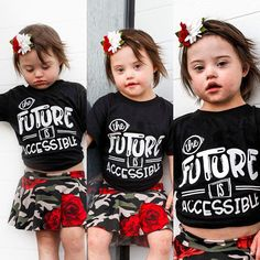 Kids Toddler, The Future is Accessible Unisex tee t-shirt Disability Awareness Protest equality shirt