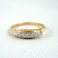 Vintage 14K/18K Gold Wedding Band - Circa 1960's - Retro Wedding Ring - Vintage Jewellery from A Second Time by ASecondTime on Etsy https://www.etsy.com/listing/94813700/vintage-14k18k-gold-wedding-band-circa