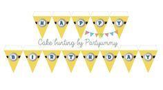 Banderole de gâteau minion gratuite à télécharger  Cake bunting minion free printable