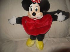 Vintage Disneyland Parks Minnie Mouse Plush Fanny Pack Bag Red Polka Dot  EUC