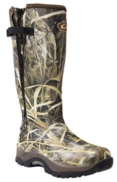 https://www.drakewaterfowl.com/drake/products; MST Side Zip Knee High Mudder - Realtree Max 4 HD - Size 10 #kneehighboots
