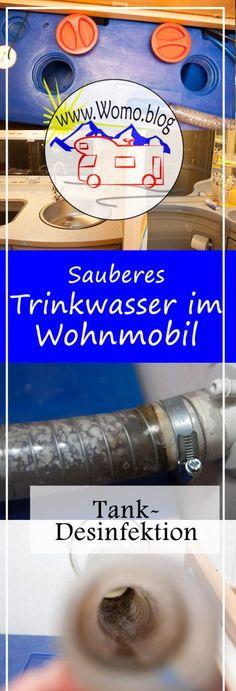 Tankdesinfektion mit einfachen Hausmitteln: im Wohnmobil und Wohnwagen reinigen wir die komplette Wasseranlage, Tank und Wasserrohre
