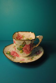 BERKLEY ROSE Royal Stafford Bone China Tea cup and saucer Made in England