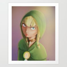 Linkle - Hyrule Warriors Art Print by Hyrule Warriors, From The Ground Up, Buy Posters, Buy Prints, Buy Frames, Unique Art, Printing Process, Disney Characters, Fictional Characters