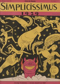 Simplicissimus Vintage Graphic Design, Graphic Art, Robert Walser, Propaganda Art, Political Satire, Magazine Art, Magazine Covers, Retro Art, Libros