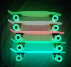 Fluo wheels for Penny boards