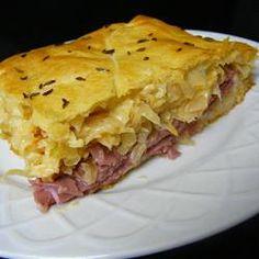 Reuben Crescent Bake Allrecipes.com::::::::::::OMG!!!!  This looks amazing!!