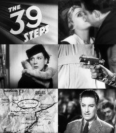 """""""Trzydzieści dziewięć kroków"""" (Alfred Hitchcock, 1935) = """"The 39 Steps"""" (Alfred Hitchcock, 1935), ROBERT DONAT"""