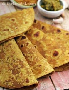An all-time favourite Maharashtrian bread, the Dashmi Roti (Savoury) is made with a dough of whole wheat flour and besan flavoured with a variety of spice powders. It is easy to prepare since it makes use of readily-available spice powders, but is super tasty too! You can also serve this conveniently with til chutney, achaar and curds, without preparing any elaborate side dishes, which makes it a popular choice to prepare for dinner after a busy day at work. Another good thing is that the…