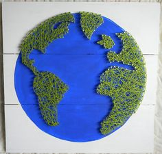 Earth String Art by NailedItDesign on Etsy, $39.00