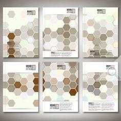 Hexagonal Brochure Or Flyer Patterns By VectorShop On Creative Market