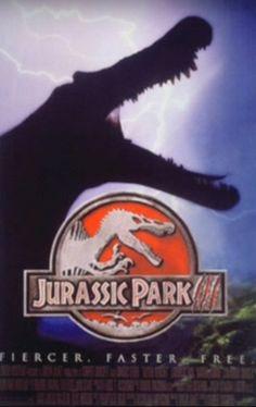 Early Jurassic Park 3 poster art. #JurassicPark3 #JurassicPark Michael Crichton, Jurassic Park 3, Jurassic World, Thriller, Science Fiction, Joe Johnston, Posters, Movies, Art