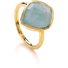 Celeste Aqua Tear Ring (1 430 ZAR) ❤ liked on Polyvore featuring jewelry, rings, peace sign jewelry, aqua ring, peace sign ring, aqua blue jewelry and aqua jewelry