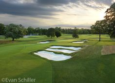 Looking over the Church Pews at Sunset on the hole of the Wissahickon Course at The Philadelphia Cricket Club Cricket, Good News, Philadelphia, Golf Courses, Church Pews, Club, Resorts, Sunset, Beautiful
