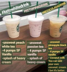10 Starbucks Keto Drinks For Weight Loss - Meraadi Looking for some delicious starbucks keto drinks that you can order when you visit starbucks? These 10 keto starbucks drinks are exactly what you need! Bebidas Do Starbucks, Starbucks Secret Menu Drinks, Low Calorie Starbucks Drinks, Starbucks Smoothie, Starbucks Coffee, Starbucks Food, Starbucks Order, Starbucks Hacks, Sugar Free Starbucks Drinks
