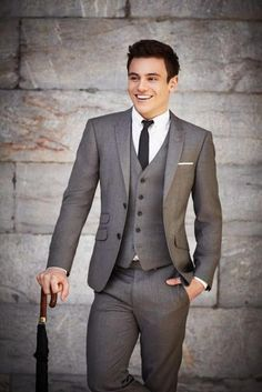 New Groom Tuxedos Suit Fit Slim Business Party Formal Best Man Evening Men Suits #Handmade #Tuxedo