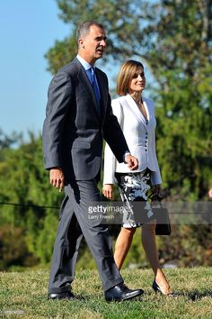 King Felipe VI and Queen Letizia Of Spain appear at George Washington's Mount Vernon on September 15, 2015 in Mount Vernon, Virginia.