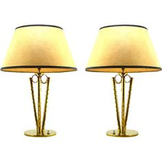 Pair of French Art Deco Table Lamps 1940s