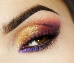 Makijaż: Odcienie fioletu i złoto