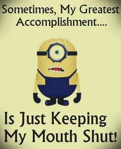 Funny minions images with funny quotes PM, Monday September 2015 PDT) – 10 pics humor, funny quotes Funny Minion Memes, Minions Quotes, Funny Jokes, Minion Humor, Minion Sayings, Fun Sayings, Funny Texts, Minions Images, Minions Love