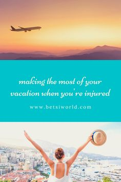 If you love to travel, don't let injuries keep you grounded. Modify your travel so your injuries don't keep you grounded. Packing Tips For Vacation, Family Vacation Destinations, Travel Destinations, Family Vacations, Budget Travel, Travel Tips, Disney Trips, Australia Travel, Beach Trip