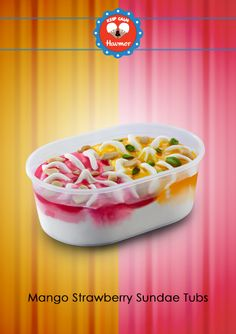 Dive into a tub filled with a toothsome fusion of Mango and Strawberry Sundae. Keep Calm & Havmor ice cream