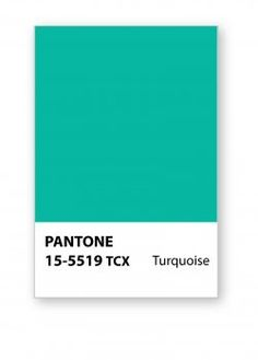"""If Pantone says That It Is Turquoise Then It Is"""