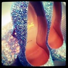"""My something """"blue"""" is going to be sparkly blue heals under my wedding dress :)"""