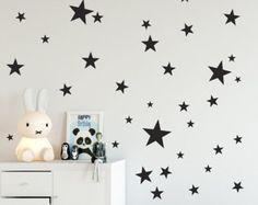 Spectacular Vinyl Sterne Wandtattoo Sternen Wand von TheStenciledBarn auf Etsy