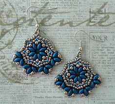Linda's Crafty Inspirations: Bohemian Beauty Earrings - Silver & Blue