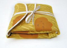 Screen printed  Rain drop changing pad by normadot on Etsy, $52.00