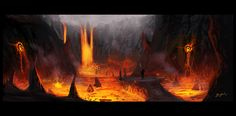Lava enviroment by bugball on deviantART