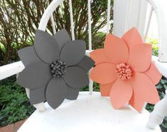 Paper Flower Backdrop Giant Paper Flowers by PoppiesandPaperShop