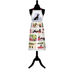 Tottering By Gently Dog Rules Cotton Apron Linen Bedding, Bed Linen, Funny Illustration, Dog Rules, Tea Towels, Apron, Great Gifts, Textiles, Dogs