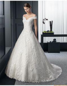 2015 Prinzessin Romantische Traumhafte Brautkleider aus Spitze mit Schleppe