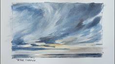 How to paint a Dramatic Sunset Sky in Watercolor. Just 3 colors. Peter S...