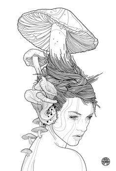 MUSHROOM GIRL by Tavo Montañez