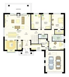 Projekt domu Willa parkowa 3 - rzut parteru