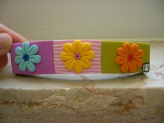 Summer Party Polymer Clay Barrette | Flickr - Photo Sharing!