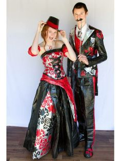 WOW!!  Duct Tape Prom Dresses | duct tape prom dress and tuxedo