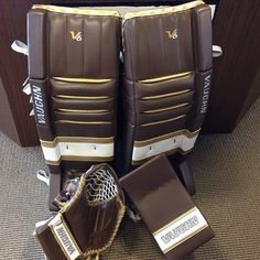 Classy set of Goalie Pads, Goalie Gear, Detroit Red Wings, Hockey, Cushions, Classy, Cool Stuff, Sports, Throw Pillows