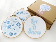 Snow Embroidery Kits Special Offer Christmas Craft Kits Hand Embroidery Gift Set…