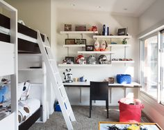 Teenage Bedroom Ideas For Boys - love the way the shelves are done