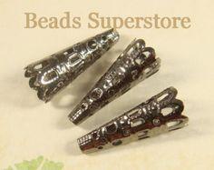 Filigree Bead Cones 20 pcs. Platinum Bead Cone by Charsbeads4U