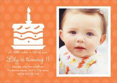 Flat Oversized Invitation - Cake Silhouette (Orange)