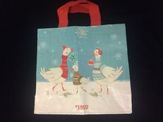 Tesco Star Christmas Goose Tote Bag 2016 UK Holiday Sweater Ornament Ski Jumper    eBay